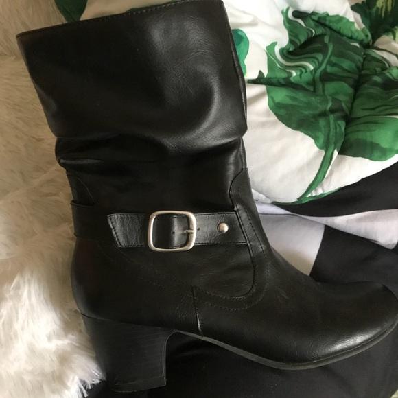 Black high heel boots ,girls